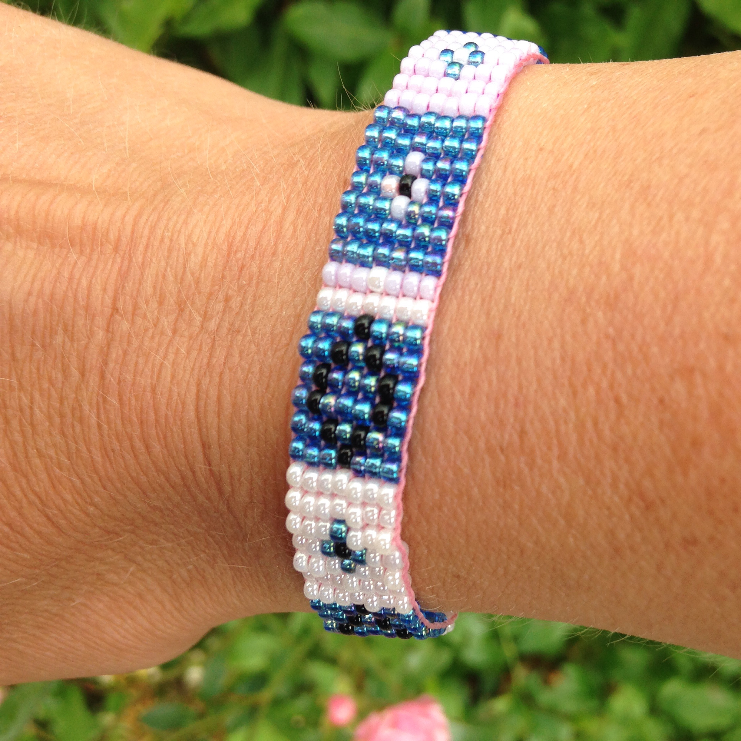 beadsarmbandje blue