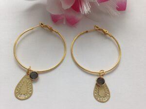 Ooringen,Earrings Golden Facet