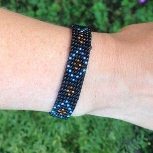beadsarmbandje royal black