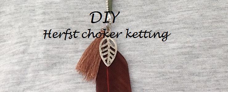 DIY herfst choker ketting