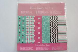 washi sheets action shoplog